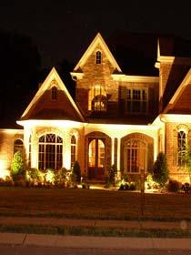 Наружное освещение дачных домов и коттеджей