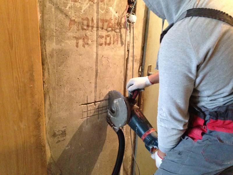Как сделать штробу без пыли под проводку